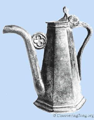 Pewter Cruet discovered at Tong Castle