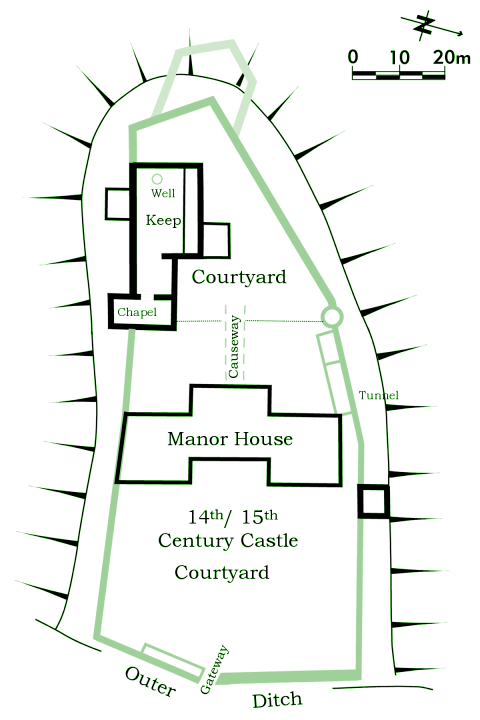 14th century tong castle for 11th century castles floor plan